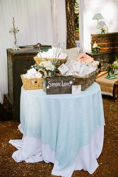 A smores bar is the perfect fun touch to your wedding reception!