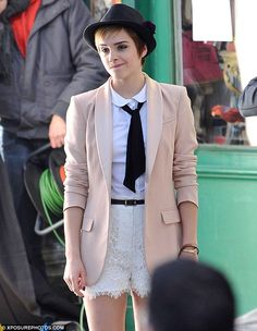 If I could, I would totally try to rock the pixie hair cut.  I think it's adorable ... so is this outfit :)