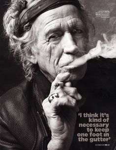 Sean Spellman styled rock legend Keith Richards for October 2011 British GQ's Men of the Year Issue photographed by Mark Seliger.