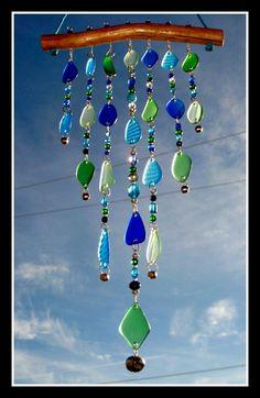 Tiered Beach Glass Windchime