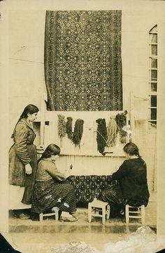 Armenians making rugs. Aleppo, Syria