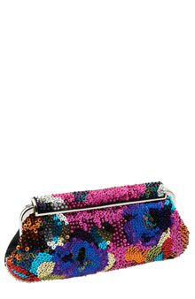 Patterned Sequin Clutch