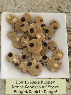 How to Make Mickey Mouse Cookies with Store Bought Cookie Dough! These cookies…