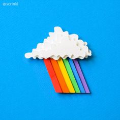 There is a rainbow at the end of every storm ? Stop motion animation. Cut Out Animation, Stop Frame Animation, Animation Stop Motion, Animation Reference, Animation Movies, 3d Paper Art, Paper Crafts, Animation Image Par Image, Stop Motion Photography