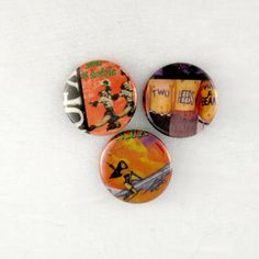NOFX Buttons, Epitaph Punk Rock Pins, 80s Indie Band Badges by JeepsterVintage on Etsy