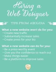 "The Right Time to Hire a Web Designer: When your business is at that ""tipping point"" where our work can move you forward, that's the sweet spot that we aim to meet you in."