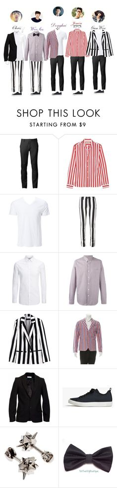 """""""PTX """"Merry Christmas"""" @ WLM New Year Special Stage"""" by purrfectas ❤ liked on Polyvore featuring Chor, Maison Kitsuné, Off-White, Joseph, AMI, JIRI KALFAR, James Perse, Alexander McQueen, Garrett Leight and men's fashion"""