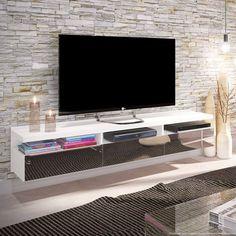 Compre Rack Suspenso para TV até 60 Polegadas 3 Gavetas com Espelho Mach Branco - Urbe Móveis em Promoção com ✓ Até 12x ✓ Fretinho