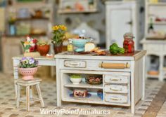 The Teahouse and Pantry at WindyPointMiniatures : A Farmhouse Kitchen and a few Long Overdue Updates