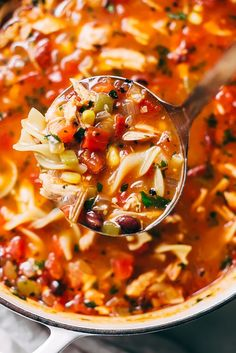 Mexican Chicken Noodle Soup - loaded with tender chicken, corn, beans, and of course, noodles! Ready in under 30 minutes! Chicken Noodle Recipes, Chicken Noodle Soup, Noodle Soups, Recipe Chicken, Mexican Chicken Soups, Chicken Corn Chowder, Chicken Chili, Chicken Tacos, Easy Soup Recipes