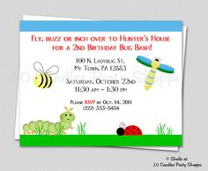 Bug Invitation  Backyard Buggies Party COLLECTION  by 10candles, $15.00