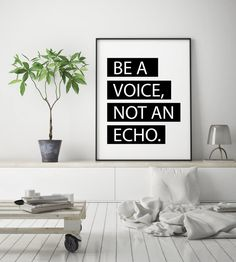 Inspirational Poster Be a Voice Wall Art Albert Einstein   Etsy Boho Nursery, Nursery Art, Girl Nursery, Nursery Decor, Personalised Family Print, Nursery Pictures, Montage, All Design, Printable Wall Art