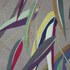 Image of Eucalyptus Colour Study 1 Decorative Leaves, Color Studies, Mosaic Designs, New Crafts, Textile Artists, Quilt Patterns, Applique, Australian Bush, Textiles