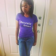 Naturally Unique T-Shirt from Seriously Natural Boutique. www.seriouslynatural.spreadshirt.com #naturalhairdiva #naturalhairfashion #naturalhair #naturalfashion #blackhair #blackfashion #style #naturalstyle #teamfashion