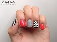 Chevron Nails <3 Perfect for summer! Just switch up the colors to match your favorite outfit. :)