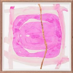 "Go bold with this sophisticated piece by ZBC House to transform your space.    Artist -  ZBC house Frame - 675 Walnut Image Size - 20"" x 20"" #wallart #art #pink"