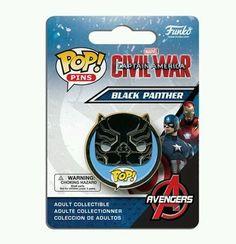 Captain America: Civil War Black Panther Pop! Pin   Collectibles, Pinbacks, Bobbles, Lunchboxes, Bobbleheads, Nodders   eBay!