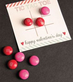 Kick your traditional tic-tac-toe game up a notch with this Valentine's printable and use M&Ms as the X's and O's.