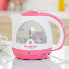 New Sanrio My Melody Electric Kettle Cute Kitchen Cordless Pink Rare Limited