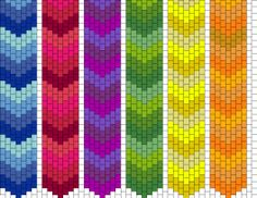 """Great site for peyote beading patterns. BUT BEST OF ALL...there is a """"make your own"""" pattern creator."""