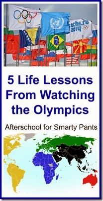 5 Life Lessons from Watching the Olympics - at http://learningwithmouse.blogspot.com