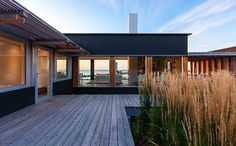 decking and grasses || Hall House by Salmela Architect