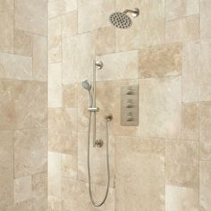 isola shower system with wall shower hand shower