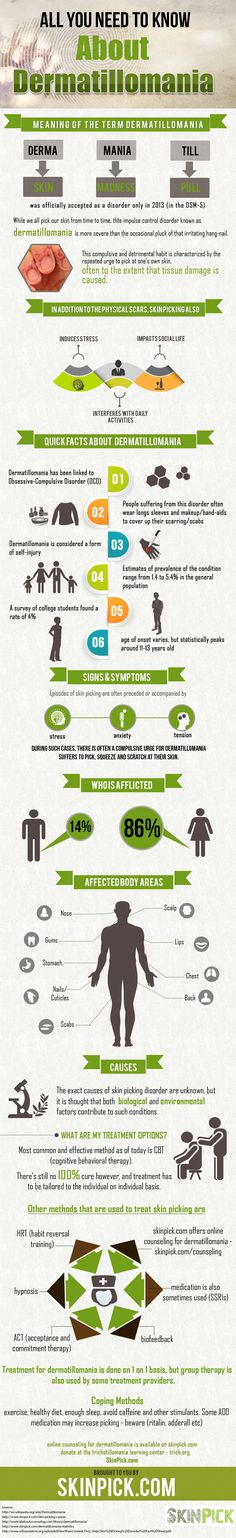 All You Need To Know About #Dermatillomania #infographic #Health