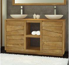 meuble salle de bain en teck serena xl - meuble sous vasque ... - Meuble En Teck Pour Salle De Bain