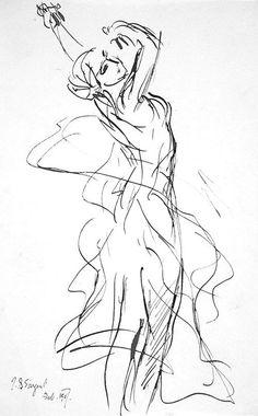 Dance - John Singer Sargent  1907  Ink on paper