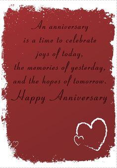 Celebrate Your Anniversary