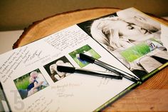 Picture guest book with date idea pages