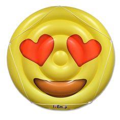 Emoji Heart Eyes - Swimming Pool Raft