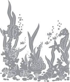 Underwater Scene with Tropical Fish | Pre-cut Patterns