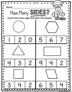 GEOMETRY - Kindergarten worksheets and activities - Math Centers - Common Core Kindergarten Math Units and Lesson Plans #kindergarten #kindergartenmath #kindergartengeoemtry #kindergartenmathcenters