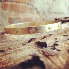 BLISS - i heartmonday.>>Delicate Brass Diamond Bangle from gramercy eight