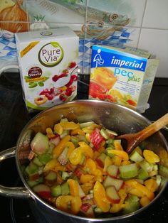 Rabarber abrikozenconfituur zonder suiker, gezoet met steviapoeder  Recepten -
