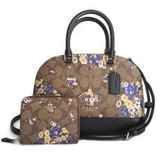 ebda0cb0694f COACH Crossbody Bag & Small Wallet Set ~ Medley Bouquet Yellow Mini  Sierra NWT #