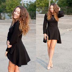 Gabriela Grębska - Nommo Dress, Wholesale7 Heels, Choies Clutch, Scatterpin Jewellery Necklace -  Asymmetric black dress