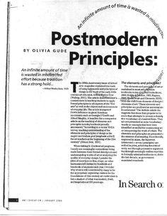 Postmodern Principles for art curriculums | Olivia Gude - Academia.edu