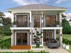 Home Design Plan With 3 Bedrooms. This villa is modeling by SAM-ARCHITECT With Two stories level. It's has 3 bedrooms.Simple Home Design Kitchen Lighting Design, Outdoor Kitchen Design, Home Decor Kitchen, Ikea Kitchen, Kitchen Stuff, Two Storey House Plans, One Storey House, Pergola Plans, Diy Pergola