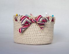 PDF CROCHET PATTERN AVAILABLE via Etsy~ insert a ribbon to color coordinate with your home decor...