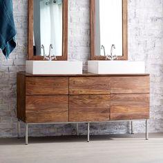 Meuble Salle de bain en bois de palissandre 155 Nova TIKAMOON