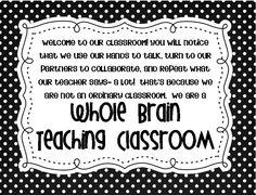 Whole Brain Teaching Classroom poster... we are not an ordinary classroom- we are a whole brain teaching classroom!!  FREEBIE!