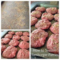 How to Easily Season Hamburger Patties | 5DollarDinners.com