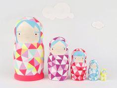 Neon Nesting Dolls from Sketch Inc.