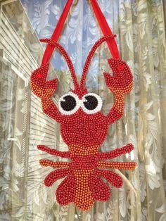 Mardi Gras bead Crawfish