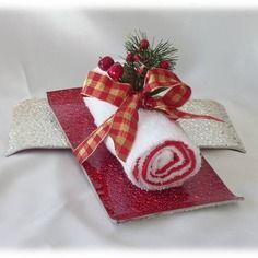 Cadeau d'invité - décoration pour noël - serviette d'invité