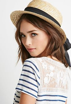 Straw Boater Hat | Forever 21 - 2000052974