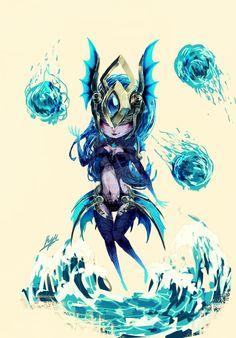 Atlantean Syndra Chibi by LunaRoyak